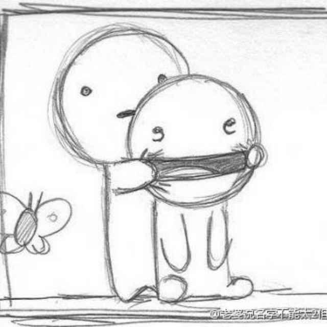 动漫 简笔画 卡通 漫画 手绘 头像 线稿 640_640